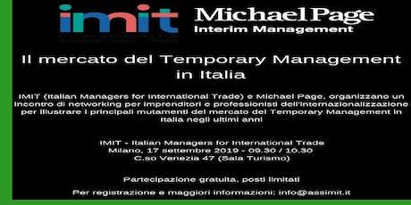 Il mercato del Temporary Management in Italia - Milano, 17 settembre 2019 biglietti