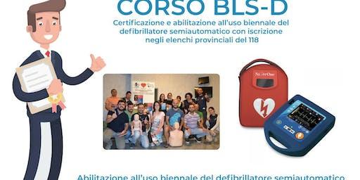 Corso di formazione BLS-D per utilizzo del defibrillatore semi-automatico AED