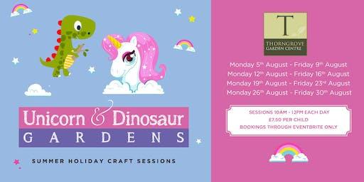 Create your own Unicorn or Dinosaur Garden