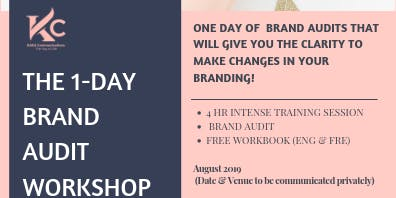 THE 1-DAY BRAND AUDIT WORKSHOP