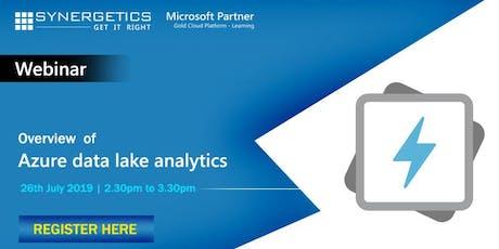 Webinar on Azure Data Lake Analytics  tickets