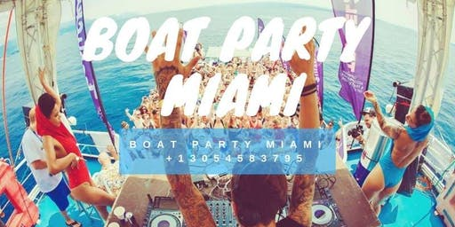 Booze Cruise Miami Party Boat - Unlimited Drinks - Food & party bus