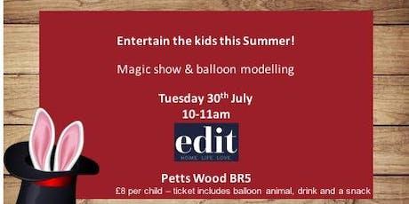 Magic Show & Balloon Modelling tickets