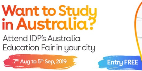 Apply to Australian universities at IDP's Free Australia Education Fair in Jalandhar– 7 Aug 2019 to 5 Sept 2019  tickets