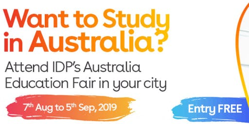 Apply to Australian universities at IDP's Free Australia Education Fair in Jalandhar– 7 Aug 2019 to 5 Sept 2019