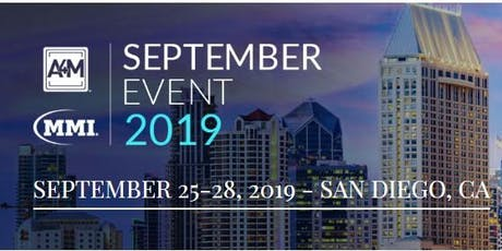 A4M SAN DIEGO SEPTEMBER EVENTS tickets