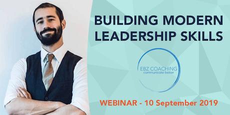 Building Modern Leadership Skills - Webinar Tickets