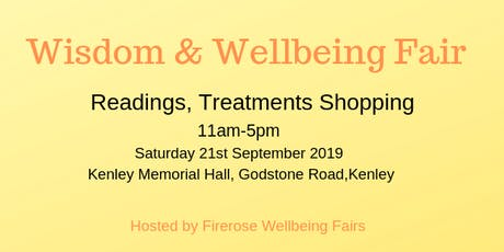 Wisdom & Wellbeing Fair  tickets