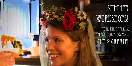 CUT AND CREATE FLORAL WORKSHOP Funky Flower Crowns and Boho Buttonholes! tickets