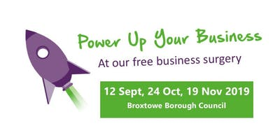 Broxtowe Business Surgeries - 12 Sept, 24 Oct & 19 Nov