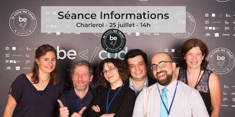 BeCode - Séance Information Charleroi billets