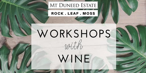 Terrarium Workshop with Rock Leaf Moss @ Mt Duneed Estate