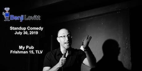 Benji Lovitt: Standup Comedy in Tel Aviv (July 30th) tickets