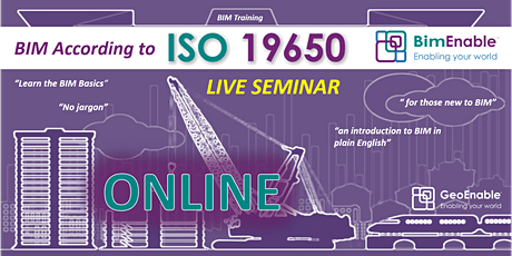 BIM According to ISO 19650 Series [LIVE WEBINAR] tickets