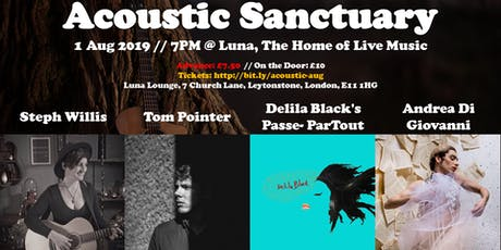 Acoustic Sanctuary: Steph Willis // Tom Pointer // Andrea Di Giovanni tickets