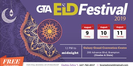 GTA Eid Festival 2019 - 9th & 10th August tickets