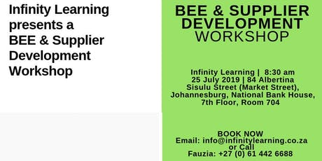 BEE and Supplier Development tickets