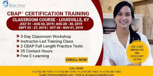 CBAP-Certified Business Analysis Professional™ Certification Training Course in Louisville, KY, USA.