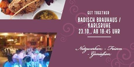 Get Together WES4.0 im Badisch Brauhaus 23.10., 18:45 Uhr  billets
