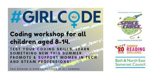 #GirlCode at Bath Library