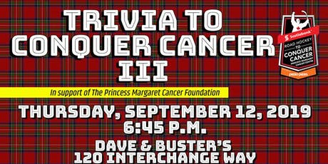 Trivia to Conquer Cancer III tickets