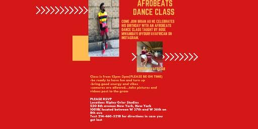 Afrobeats Dance Class-Brian's Bday Celebration