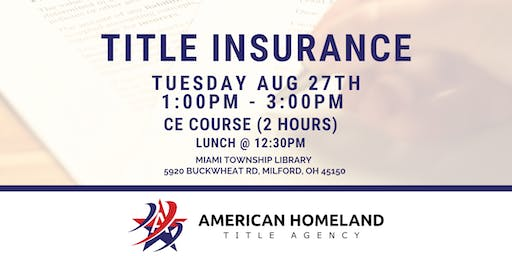 Title Insurance | Continuing Education for REALTORS®