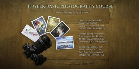 10 Week Basic Photography Course tickets