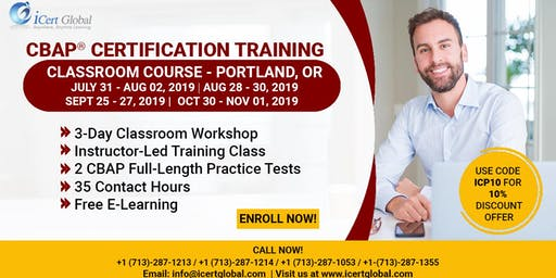 CBAP-Certified Business Analysis Professional™ Certification Training Course in Portland, OR, USA.