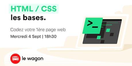 Workshop : Codez votre 1ère page web avec Le Wagon billets