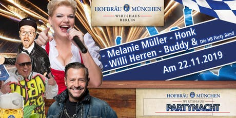 Party Nacht Berlin - mit Melanie Müller, Willi Herren, Honk und Buddy Tickets