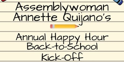 Assemblywoman Annette Quijano's Annual Back to School Happy Hour