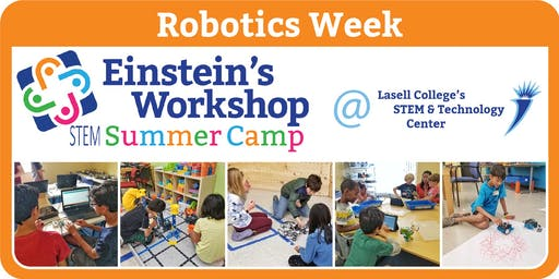 STEM Summer Camp Robotics Week at Lasell College