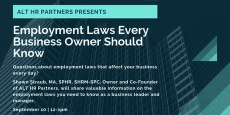 Employment Laws Every Business Owner Should Know tickets
