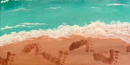Just for Kids - Footprints in the Sand - Acrylic Painting Class