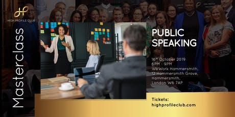 Masterclass: Public Speaking tickets