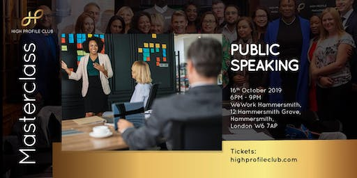 Masterclass: Public Speaking
