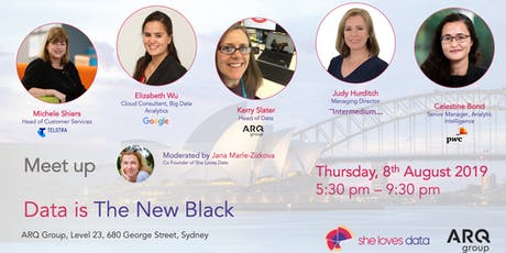 SheLovesData Sydney Meetup: Data is the New Black tickets
