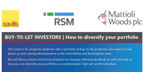 Buy-to-let investors - how to diversify your portfolio tickets