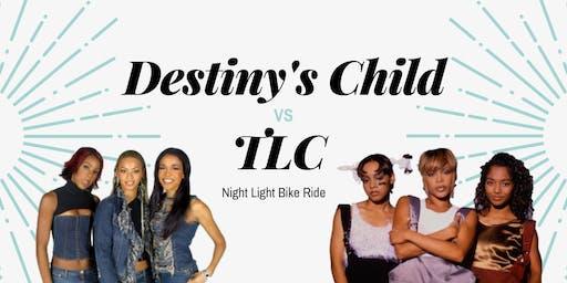 Destiny's Child vs TLC | Night Light Bike Ride