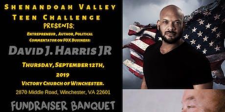 Shenandoah Valley Teen Challenge Fundraiser Banquet hosts David J. Harris tickets