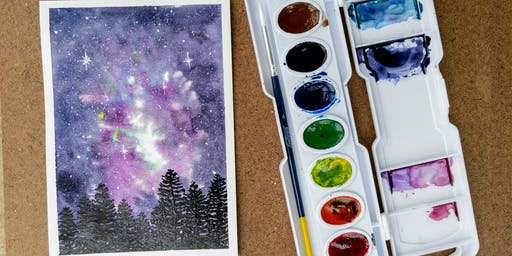 SML Art Club for Adults: Watercolor Galaxy