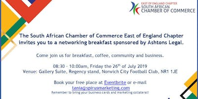 SA Chamber East of England breakfast - Norwich