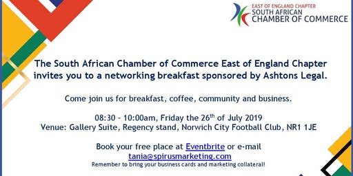 SA Chamber East of England breakfast - Norwich