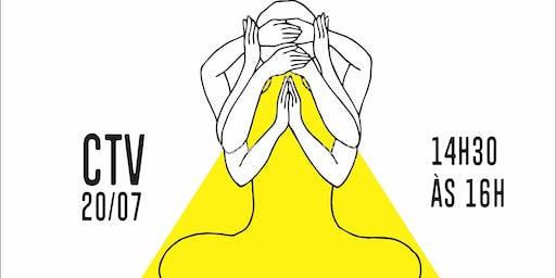 Aula solidária de  Yoga no Centro de Tradições Veganas
