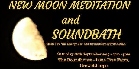 New Moon Meditation and Soundbath tickets