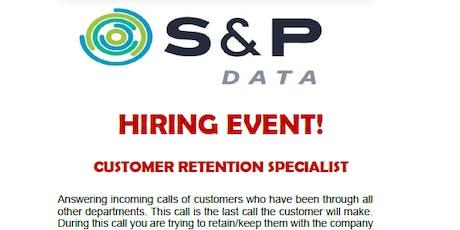 HIRING EVENT: S&P Data tickets