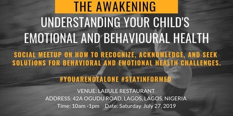 The Awakening - Understanding your Child's Emotional and Behavioral Health tickets