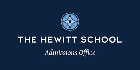 The Hewitt School - Middle School Open House RSVP 2019 tickets