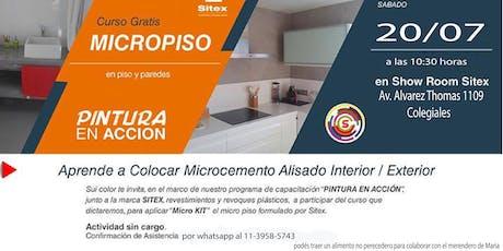 Aplicación de Micro Piso - Micro Cemento Alisado en Sui Color entradas